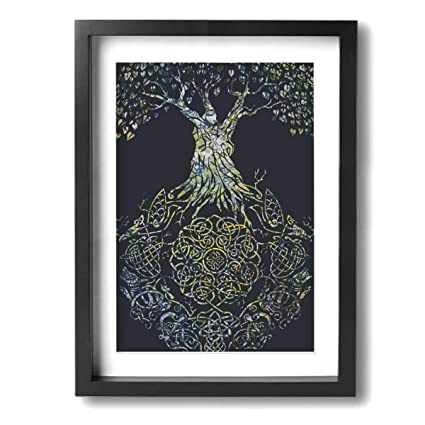 Amazon Com Zhwerq Celtic Tree Of Life Modern Giclee Framed Canvas