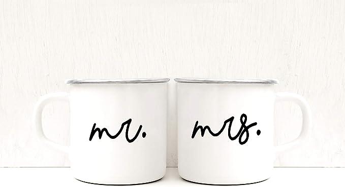 Mr Mrs - Tazas de camping personalizadas para regalo de ...