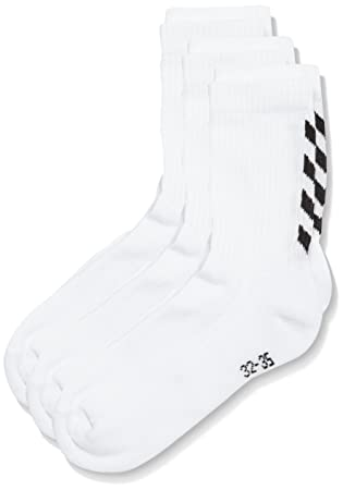 Hummel Calcetines para niños Fundamental 3-Pack de Calcetines, White, 8, 22-140-9001: Amazon.es: Deportes y aire libre