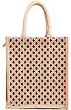 H&B Unisex Jute Beige Multipurpose Tote Bag