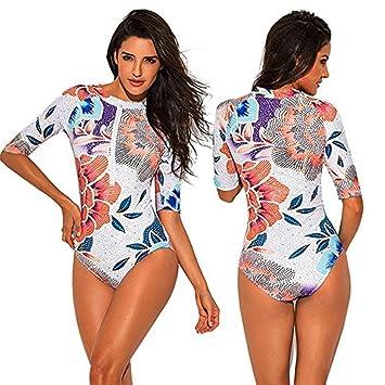 bajo precio 9b23c 3188b Limpieza! Bañador para mujer, manga larga, bikini con ...