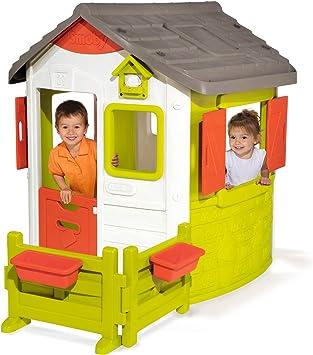 Smoby Neo Jura Lodge - Casita Infantil con Jardín, Multicolor (810501): Amazon.es: Juguetes y juegos