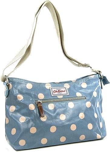 Cath Kidston Sac à bandoulière zippé en toile cirée Bleu