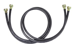 Whirlpool 8212641RP 5-Feet Black Rubber Washer Inlet Hose, 2 Pack