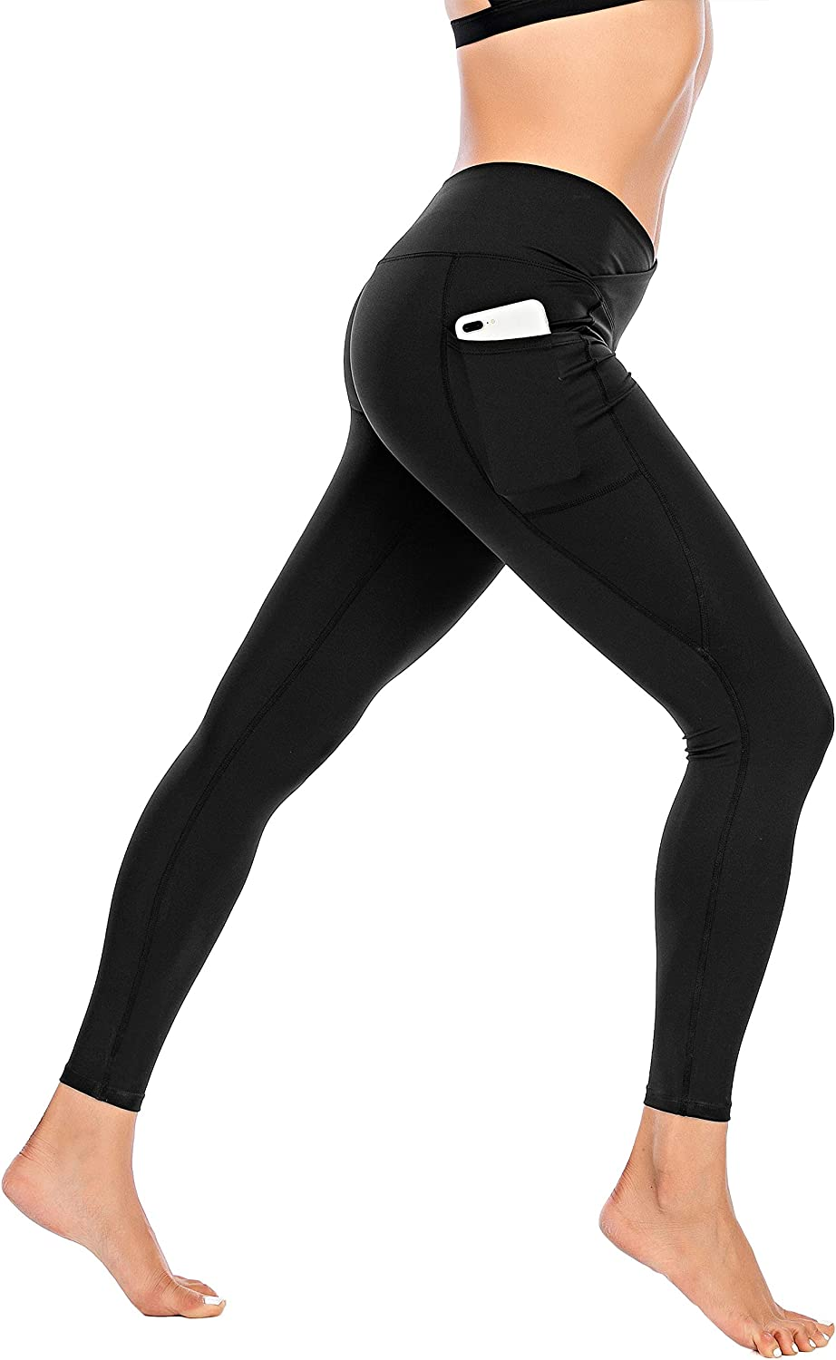 Miss Adola Workout Leggings for Women with Pocket-High Waisted Yoga Pants-Tummy Control Non-See Through Yoga Leggings: Clothing