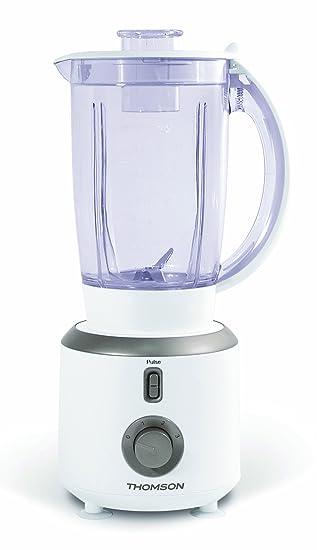 Thomson THBL06108 - Batidora de vaso (3 velocidades y Pulse, incluye vaso y 4 cuchillas de acero inoxidable): Amazon.es: Hogar