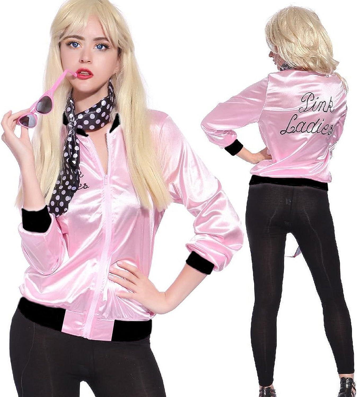 Mythgift 50s Grease T-Bird Danny T Bird/Pink Disfraz de Chaqueta ...
