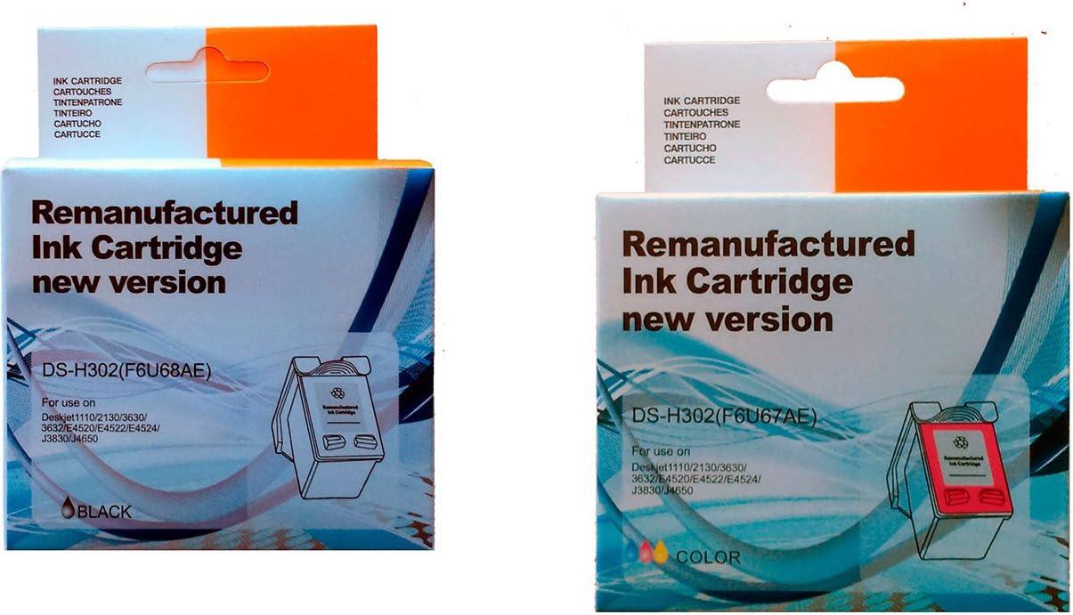 PACK 2 UNIDADES Cartucho Tinta HP 302 Negro + Cartucho Tinta HP 302 Color: Amazon.es: Electrónica