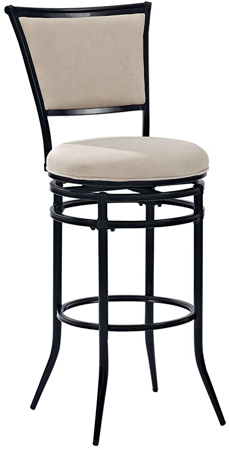 Amazoncom Crosley Furniture Cf520030bk Wh Rachel Swivel Bar Stool