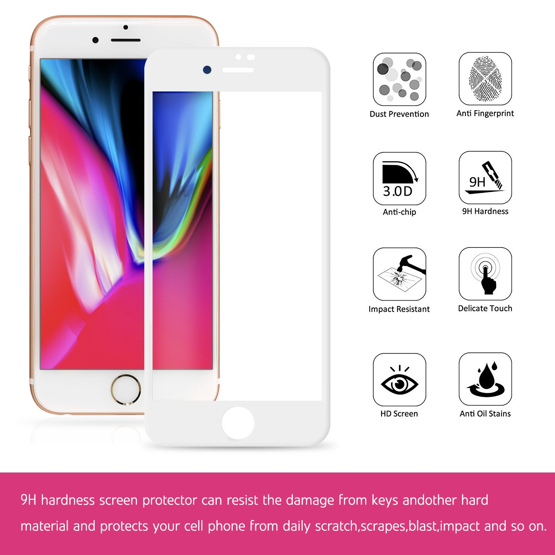 iPhone 8 Plus Panzerglas Schutzfolie Full Screen Curved Amazon Elektronik