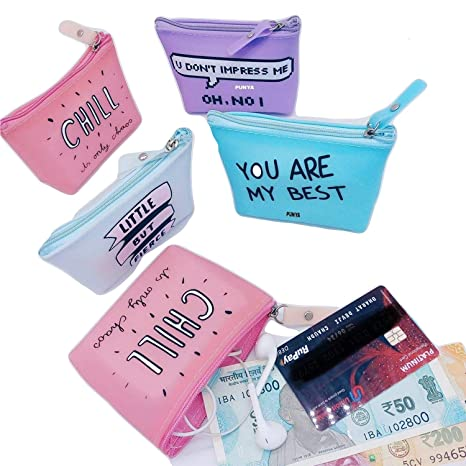 Grapple Deals Girl S Small Silicone Quotes Style Coin Pouch Hand