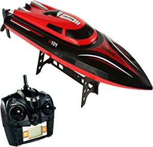 SkyCo Rc Boat 2.4GHz High Speed Remote Control Electric RC Racing Boats Toy for Kids Men Girls Adults Pool Lake Outdoor Use
