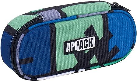 Bustina Ovale Appack Portapenne Scuola con organizer porta penne Verde Yuzer