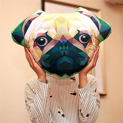 Almohada Suave Animal de impresión 3D Creativa para Perros, muñeco de Peluche Lindo para bebé, decoración de la habitación, Regalo de cumpleaños para niños, 35x50 cm, 1 Pieza: Juguetes y juegos