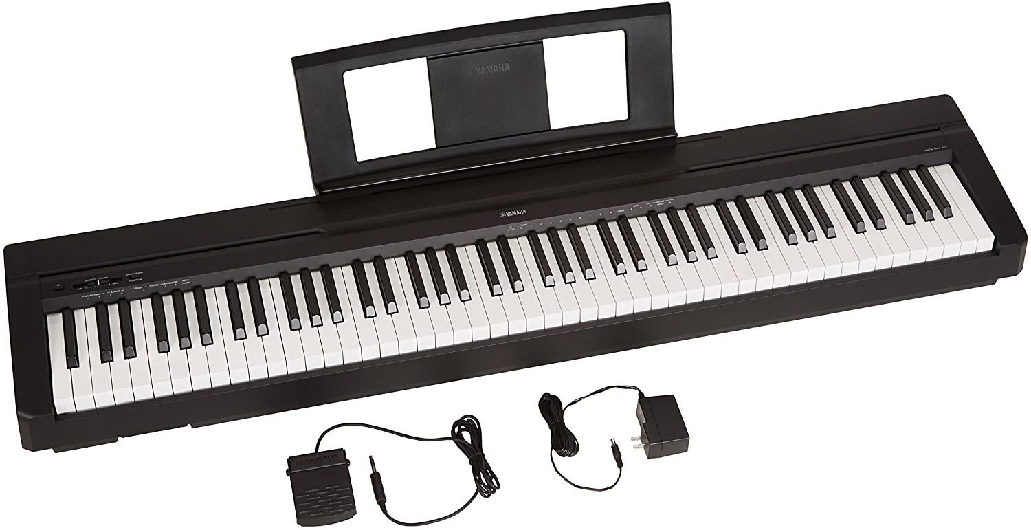 Yamaha P71 88-Key Weighted Action Digital Piano With Sustain Pedal And Power Supply