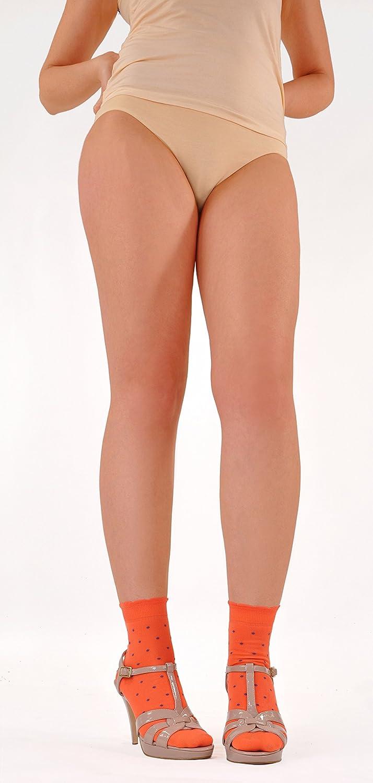 One Pair Marcoliani Womens Daisy-top Hot Shortys Italian ExtraFine Cotton Socks