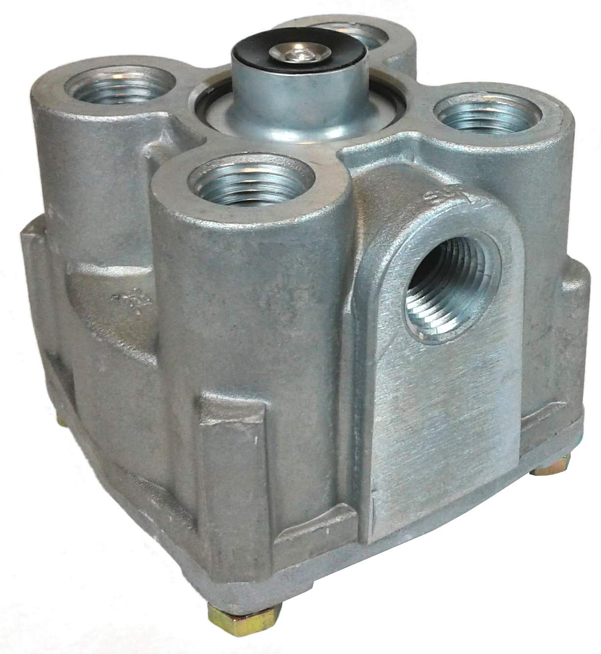 R-12 Air Brake Relay Valve - Vertical Ports for Heavy Duty Big Rigs