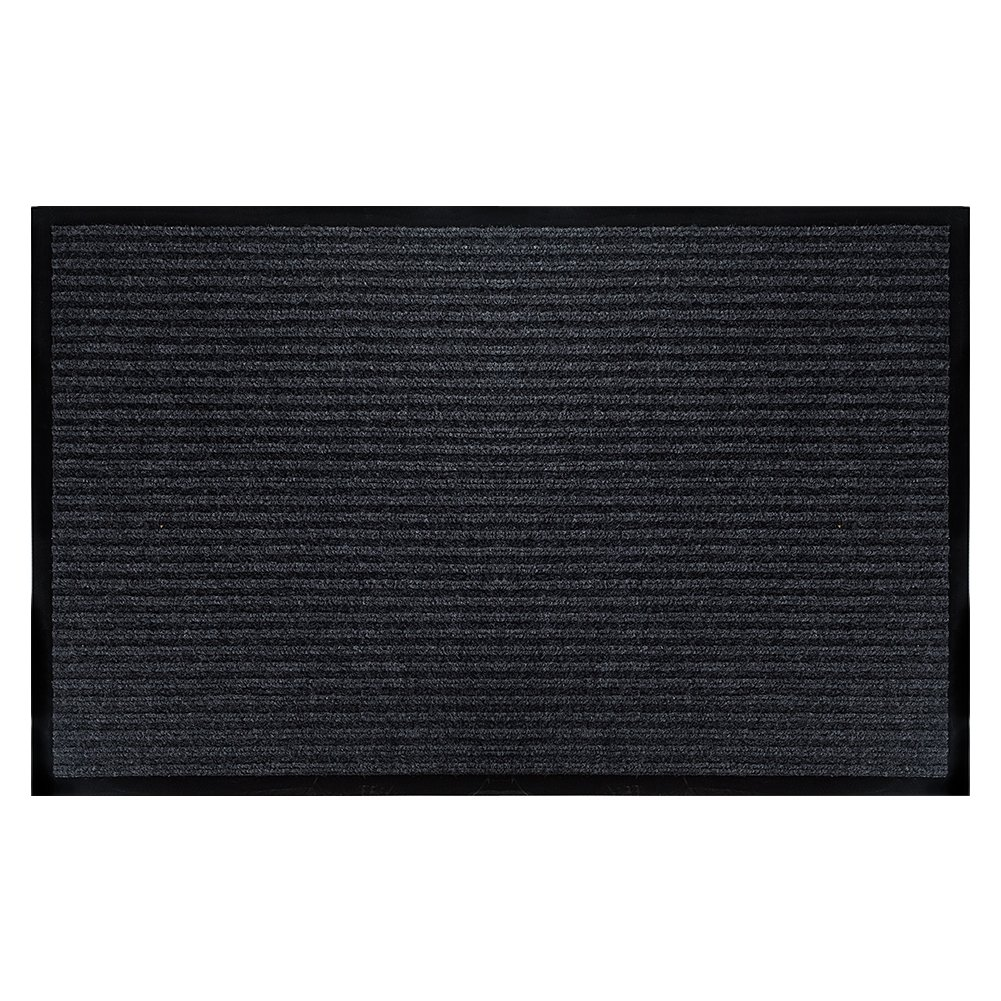 "Fasmov Indoor Outdoor Entrance Rug Floor Mats Shoe Scraper Doormat,20""x31.5""(Gray)"