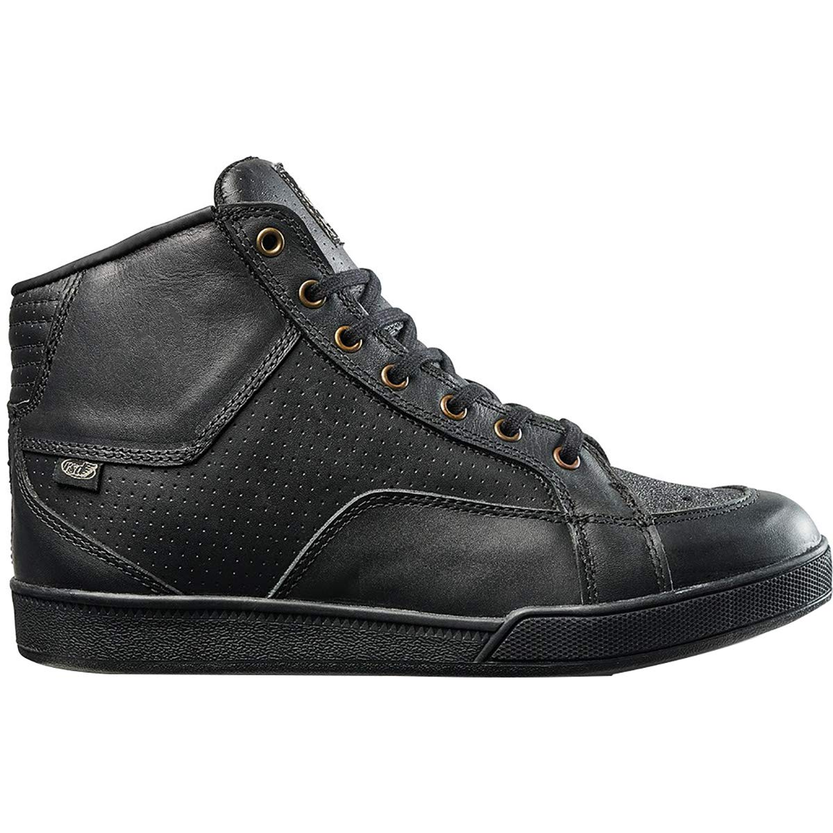 Roland Sands Design Fresno Perforated Mens Street Motorcycle Shoes 10 Black Charcoal