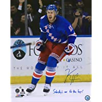 "$44 » Kevin Hayes New York Rangers Autographed 16"" x 20"" Goal Celebration Photograph with""Saturdays Are for The Boys"" Inscription - Autographed NHL…"