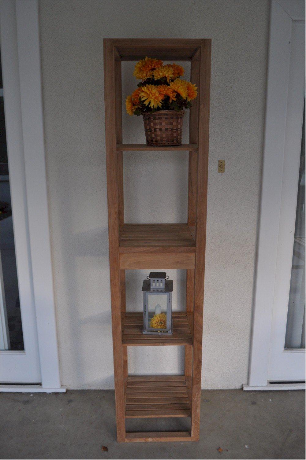 Anderson Teak SPA-1515 4 Shelves Spa Table, 4'