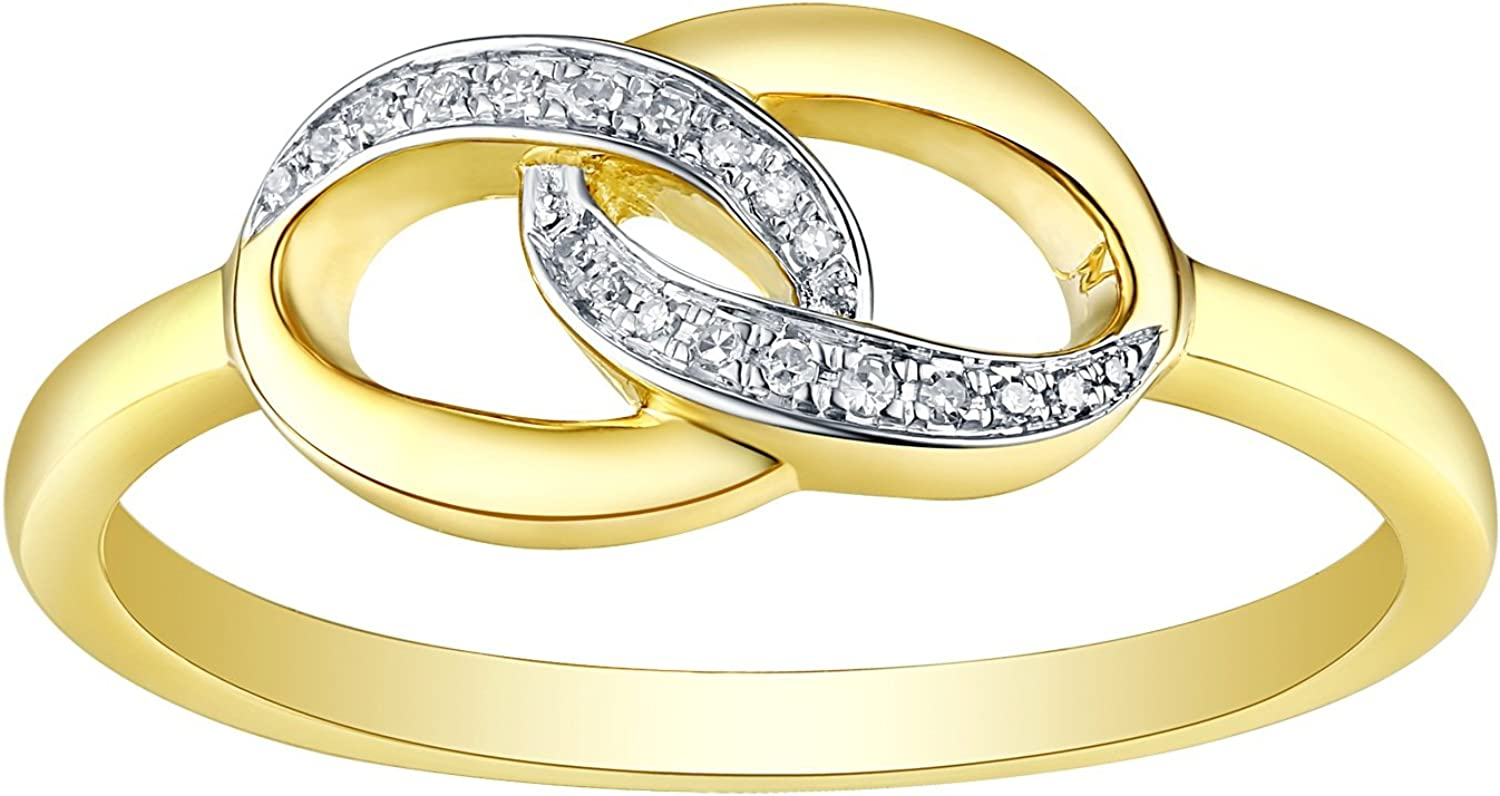 3 Diamond Wedding Band in 10K Pink Gold Size-7.5 G-H,I2-I3 1//10 cttw,