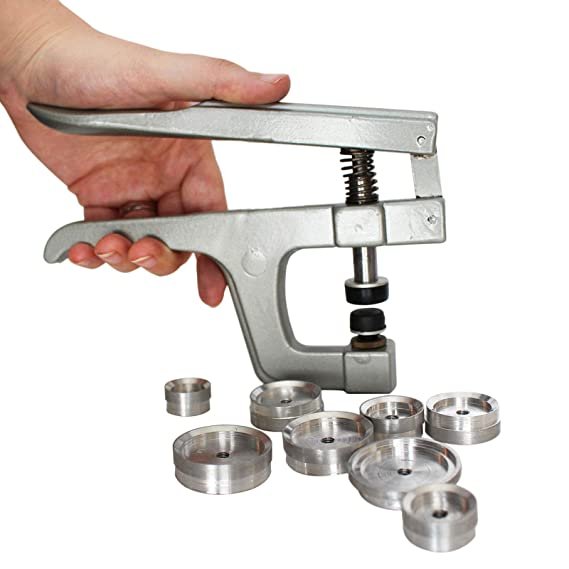 Kurtzy RemachadoraojalesSet, PinzasBotones de Presión de Metal con 9 Tapas Multi-HerramientaResistente - Para Botones de Presión de Plástico, ...