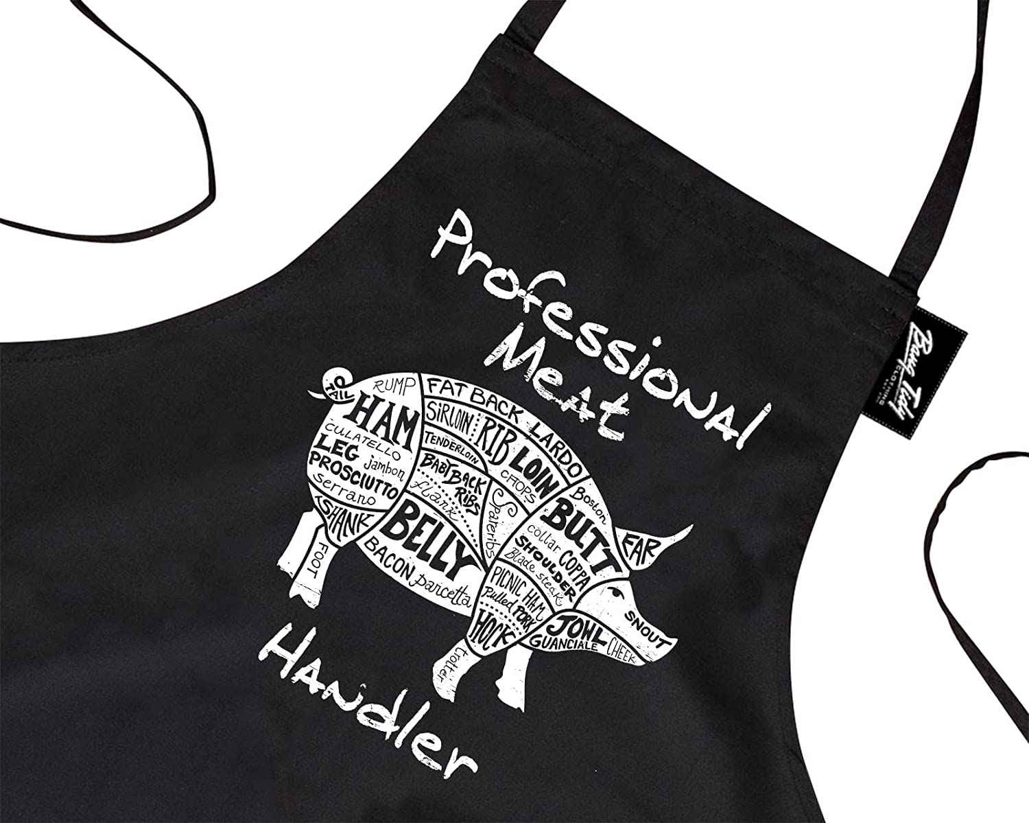 Bang Tidy Clothing Funny BBQ Apron Novelty Aprons Cooking Gifts for Men Professional Meat Handler Black One Size FD4806P1