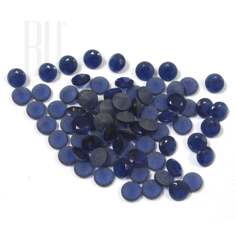 Be You Blue Colour Crystal Glass AA Quality 10 mm Diamond Cut Round Shape 500 pcs loose gemstone