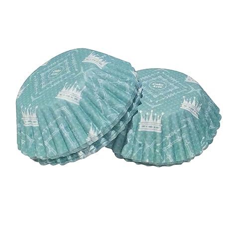 100 Piezas Corona Mini para Magdalenas de Postre para Tartas Magdalenas Cupcake Moldes de Hada,