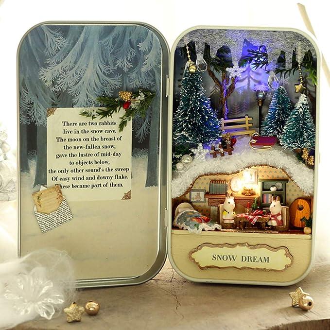 Amazon.es: Giplar Miniature Dollhouse Box Theatre Miniatures DIY ...