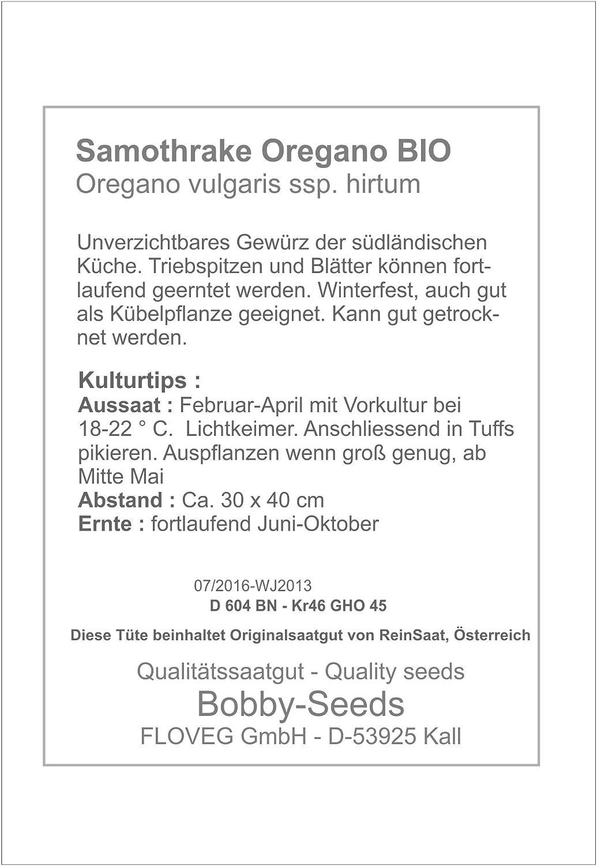 Bobby-Seeds Bio-Kr/äutersamen Oregano Samothrake Portion
