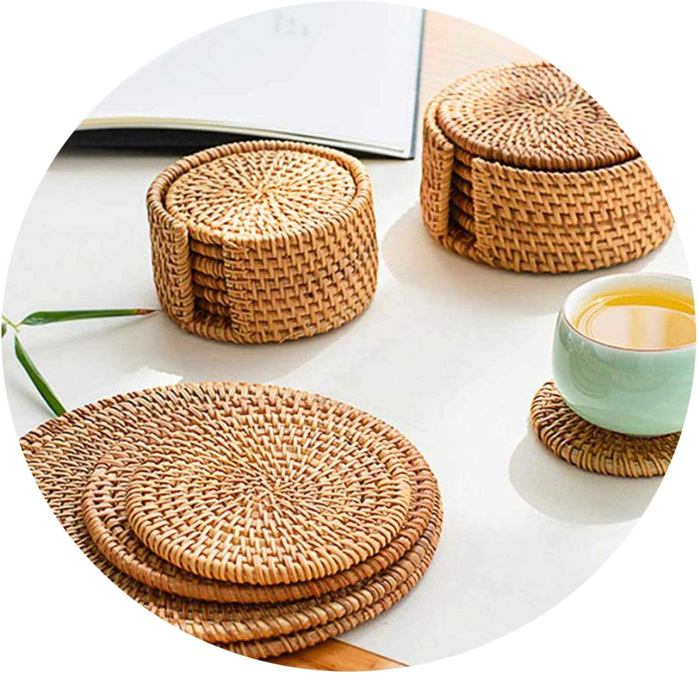 Insulation Table Mats European Style Cotton Linen Bowl Round Placemat Coaster