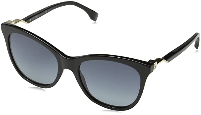 25104bd7e1 Image Unavailable. Image not available for. Color: Sunglasses Fendi Ff 200/S  0807 Black/HD ...