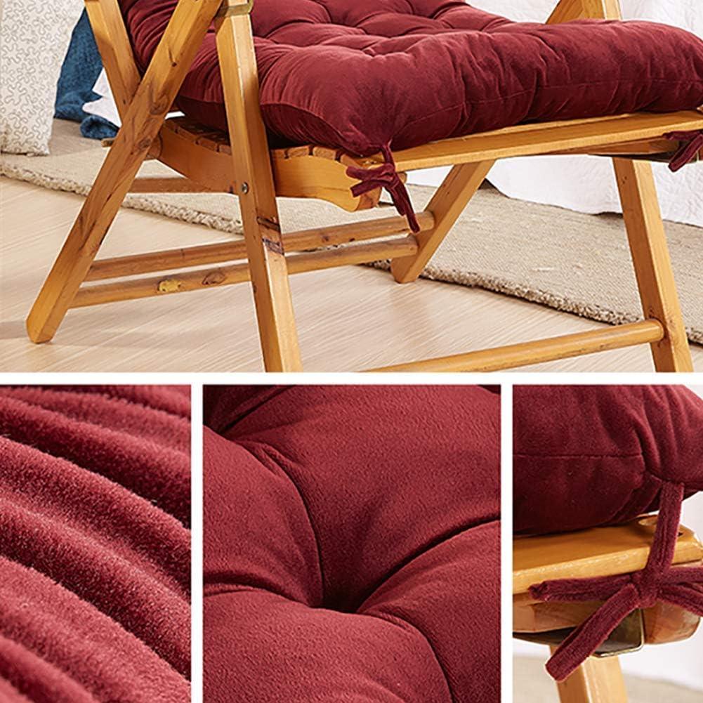 Ezoon Chair Pads Deskchair Seat Cushion High Back Sun Lounger Patio Cushion Crystal Velvet Armchair Chaise Wooden Rocking Chair Pad Mat for Indoor Outdoor