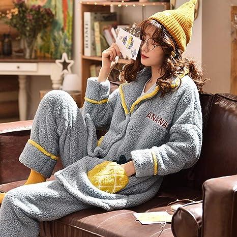 Bayrick Pijamas Mujer Invierno Enteros,Pijama de Mujer ...
