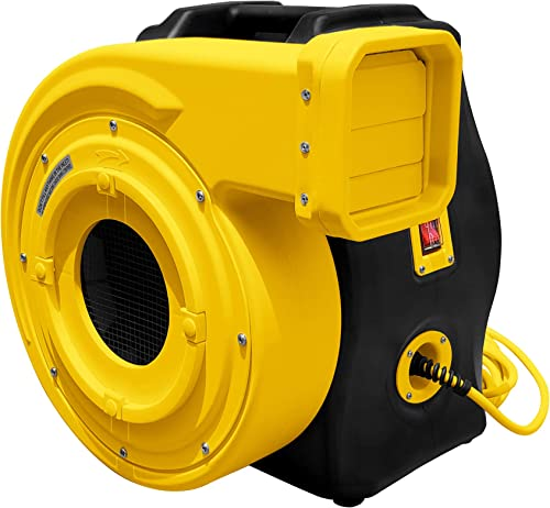 REH 2 HP Powerful Bounce House Blower Fan, 13Amp Draw Heavy-Duty Bounce House Blower Fan with 25 Foot Long Power Cord