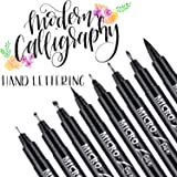 Hand Lettering Pens, Calligraphy Brush Pens Art Markers for Beginners Writing, Sketching, Drawing, Cartoon, Caricature, Illus