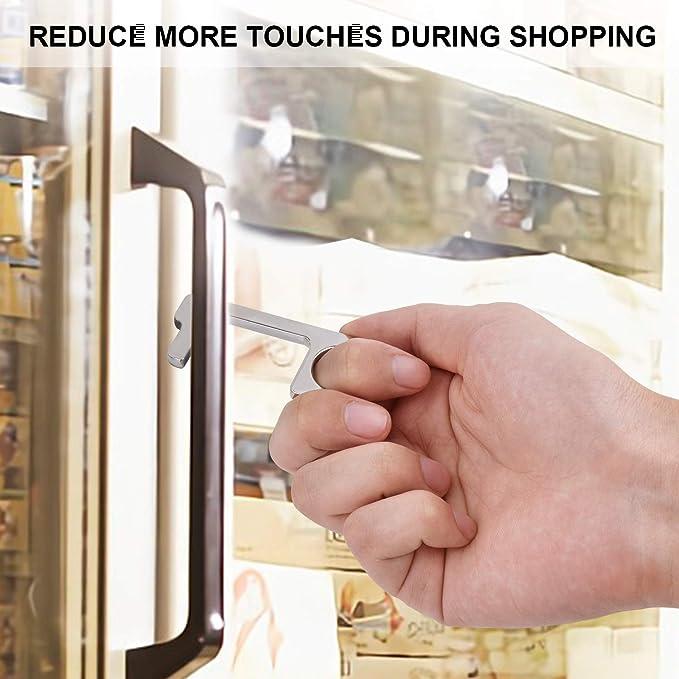 bot/ón del elevador seguridad Mantenga la mano limpia Abridor de puerta de lat/ón sin tocar a mano EDC Hygiene Herramienta de llave de salud port/átil multiprop/ósito para abrir//cerrar la puerta