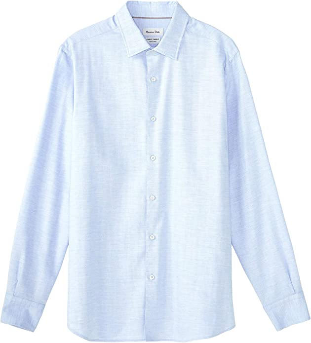 MASSIMO DUTTI 0154/116/403 - Camisa de algodón para Hombre, diseño de espiguilla: Amazon.es: Zapatos y complementos