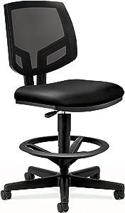The HON Company SB11.T HON5715SB11T HON Volt Mesh Back Task Upholstered Adjustable Office Stool, Black (H5715)
