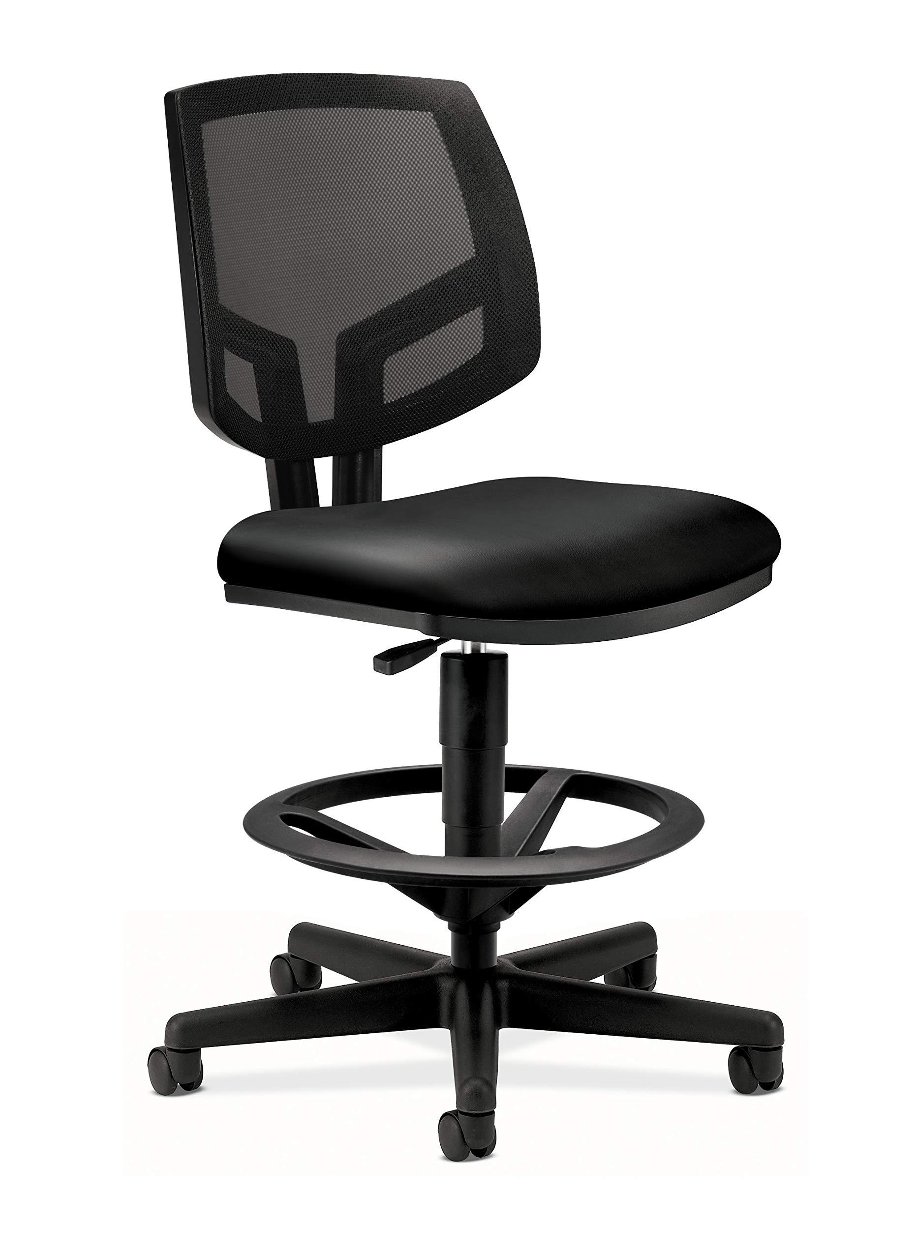 The HON Company SB11.T HON5715SB11T HON Volt Mesh Back Task Upholstered Adjustable Office Stool, Black (H5715) by HON