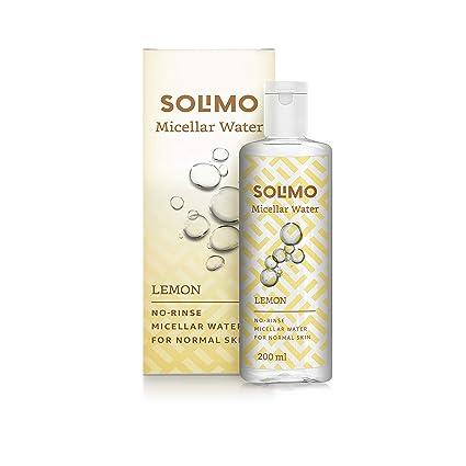[Apply coupon] Amazon Brand - Solimo Micellar Water, Lemon, 200ml