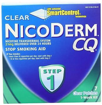 Amazon.com: NicoDerm CQ Clear Nicotine Patch 21 milligram (Step 1 ...