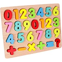 R H lifestyle 3D Wooden Colorful Puzzle Inset Board Educational Early Learning Toy for Kids Development Gift for Boys and Girls (Numbers 1-20)