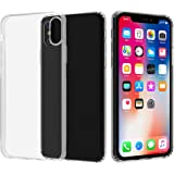 Migeec Compatible with iPhone X Case and iPhone Xs Case - Clear Soft TPU Bumper [Shock-Absorbing] Full Protection Phone…