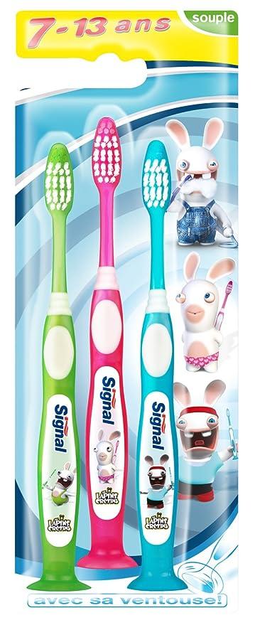 Signal croissance junior - Cepillo de dientes manual infantil (para niños de 7 a 13