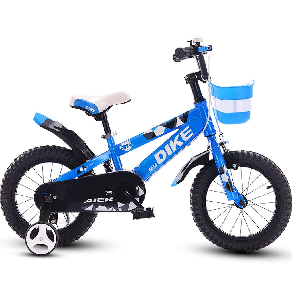 DGF 子供用自転車12/14/16/18インチ3-12歳の男の子と女の子赤ちゃん用自転車三輪車 (色 : 青, サイズ さいず : 14 inches) B07F1PJYTT 14 inches|青 青 14 inches