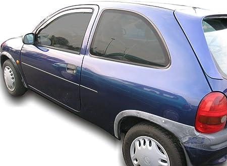 J/&J AUTOMOTIVE Deflecteurs dair D/éflecteurs de Vent Compatible avec Opel Corsa C 3 Portes 2000-2006 2pcs