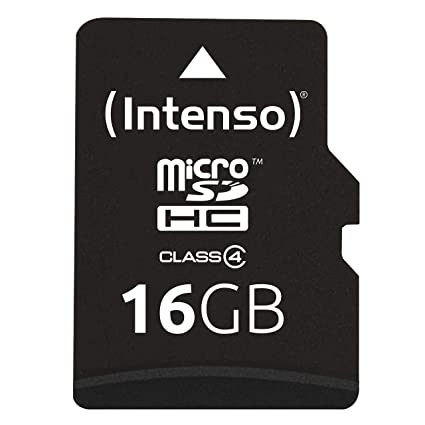 Intenso Micro SDHC - Tarjeta Micro SDHC de 16 GB (Adaptador de Memoria Incluido, Clase 4, 21 MB/s)